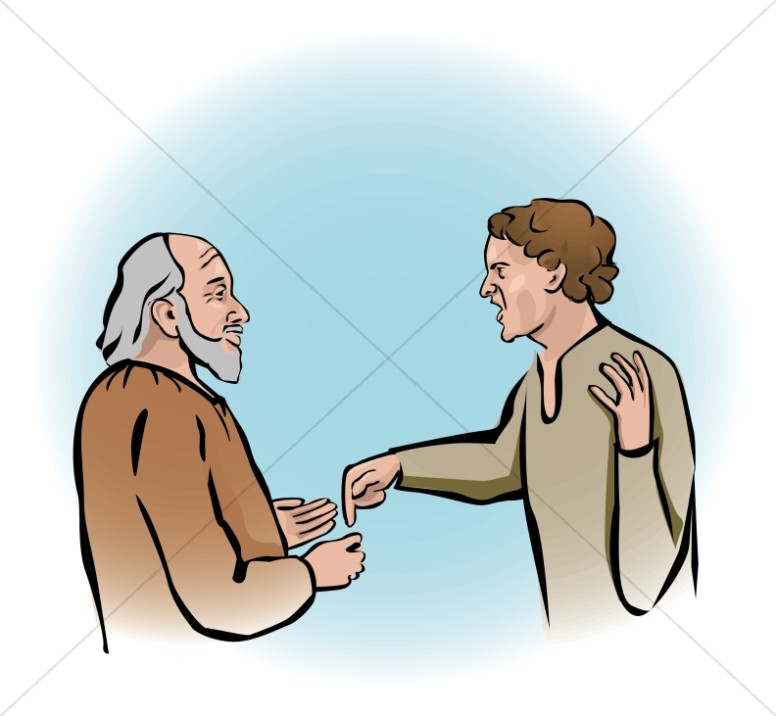 Prodigal son clipart free clipart free stock The Father Embraces the Prodigal Son Clipart | New Testament ... clipart free stock
