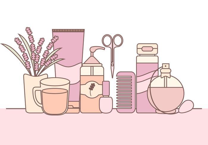 Produtos de beleza clipart svg download Ilustração do vetor de produtos de cuidados com a pele ... svg download