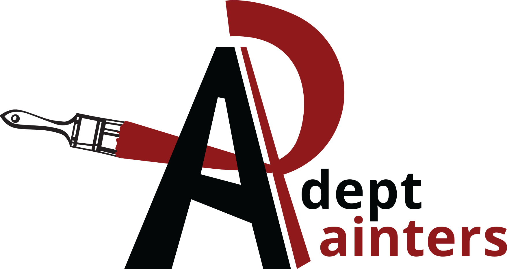 Professional painter logo house clipart jpg freeuse library Adept Painters LLC - Quality Painting & Restoration Contractor in ... jpg freeuse library