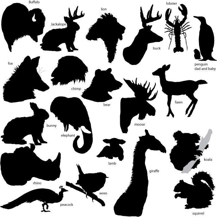 Profile of buffalo blackk and white clipart clip royalty free library BUFFALO SILHOUETTE   Stencil font and how to drawings ... clip royalty free library
