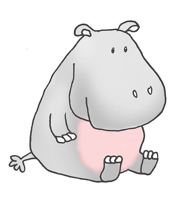 Profile of hippo clipart freeuse library Realistuc Hippo Illustrations | Cartoon Hippo Clipart freeuse library
