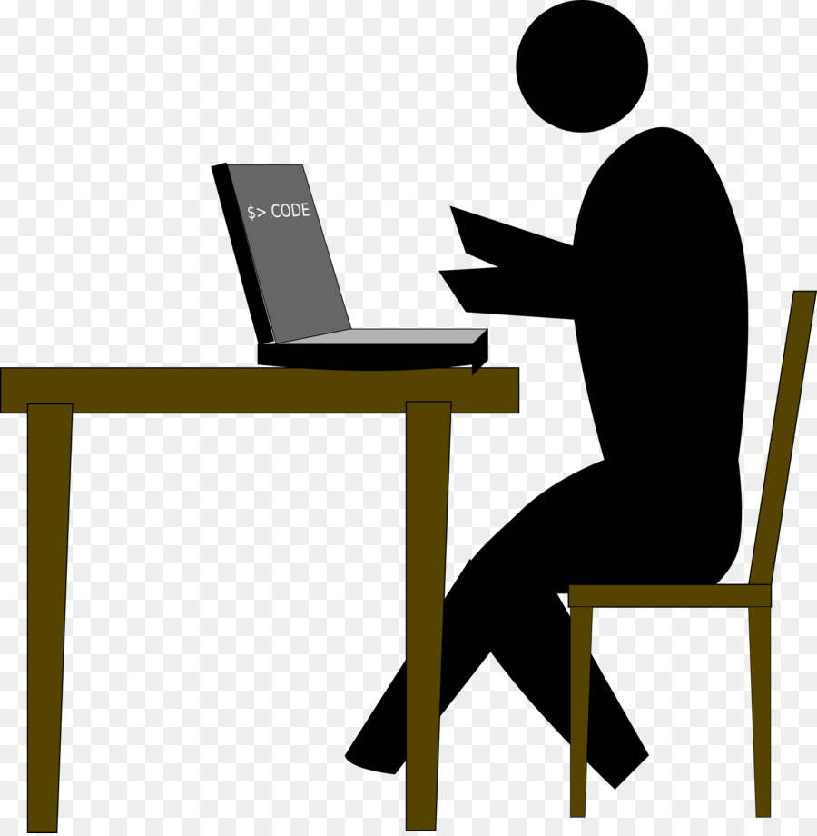 Programmer at desk clipart picture black and white download Table Cartoon clipart - Programmer, Table, Communication ... picture black and white download
