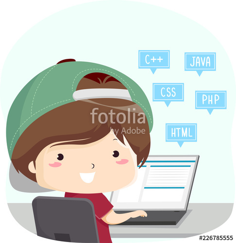 Programming languages clipart graphic transparent Kid Boy Programming Languages Illustration\
