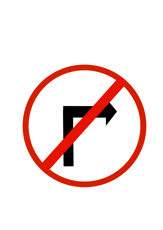 Prohibited clipart banner transparent stock Free Clipart: Indian road sign - Right turn prohibited ... banner transparent stock