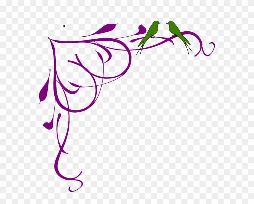 Prom corner clipart png free download Love Birds Grey Corner Frame Purple Clip Art - Fancy Border ... png free download