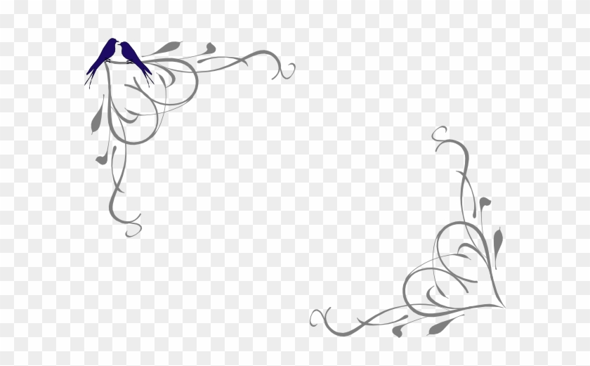 Prom corner clipart png royalty free stock Love Birds Corner Frame Clip Art - Corner Frame Vector Png ... png royalty free stock
