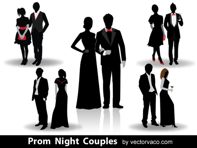 Prom couple clipart graphic transparent download Prom Night Couples Silhouettes 12024   Prom   Couple ... graphic transparent download