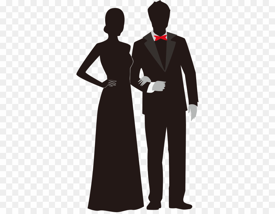Prom couple clipart clip free library Prom Silhouette PNG Clipart download - 400 * 696 - Free ... clip free library