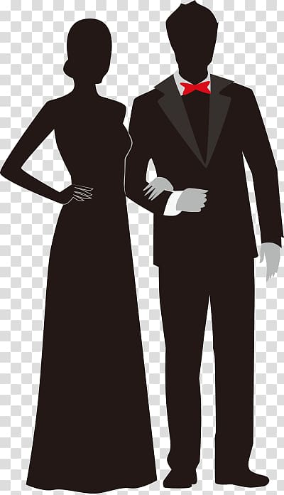 Prom couple clipart