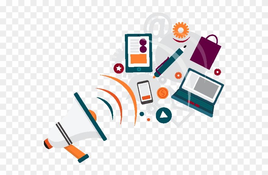 Promocion clipart vector library download Digital Marketing - Medios De Publicidad Y Promocion Clipart ... vector library download