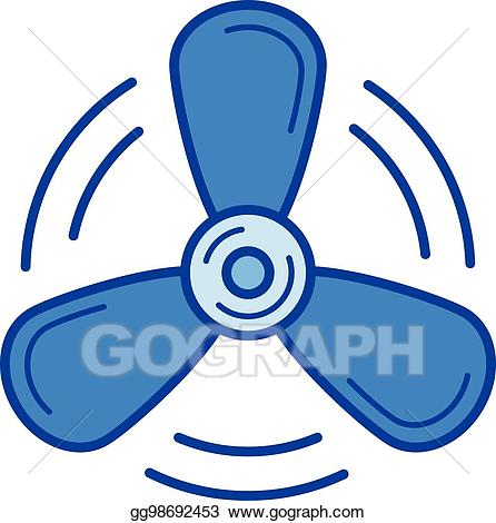 Propellor clipart image library stock EPS Vector - Ship propeller line icon. Stock Clipart ... image library stock