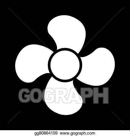 Propellor clipart jpg black and white stock Vector Art - The fan icon. fan, ventilator, blower ... jpg black and white stock