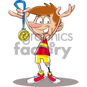 Prosthetic clipart vector library cartoon runner with a prosthetic leg clipart. Royalty-free clipart # 405555 vector library
