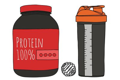 Protein powder clipart clipart black and white How to get the stink out of your protein shaker clipart black and white