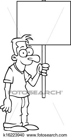 Protest sign clipart image black and white stock Protest sign clipart 7 » Clipart Station image black and white stock