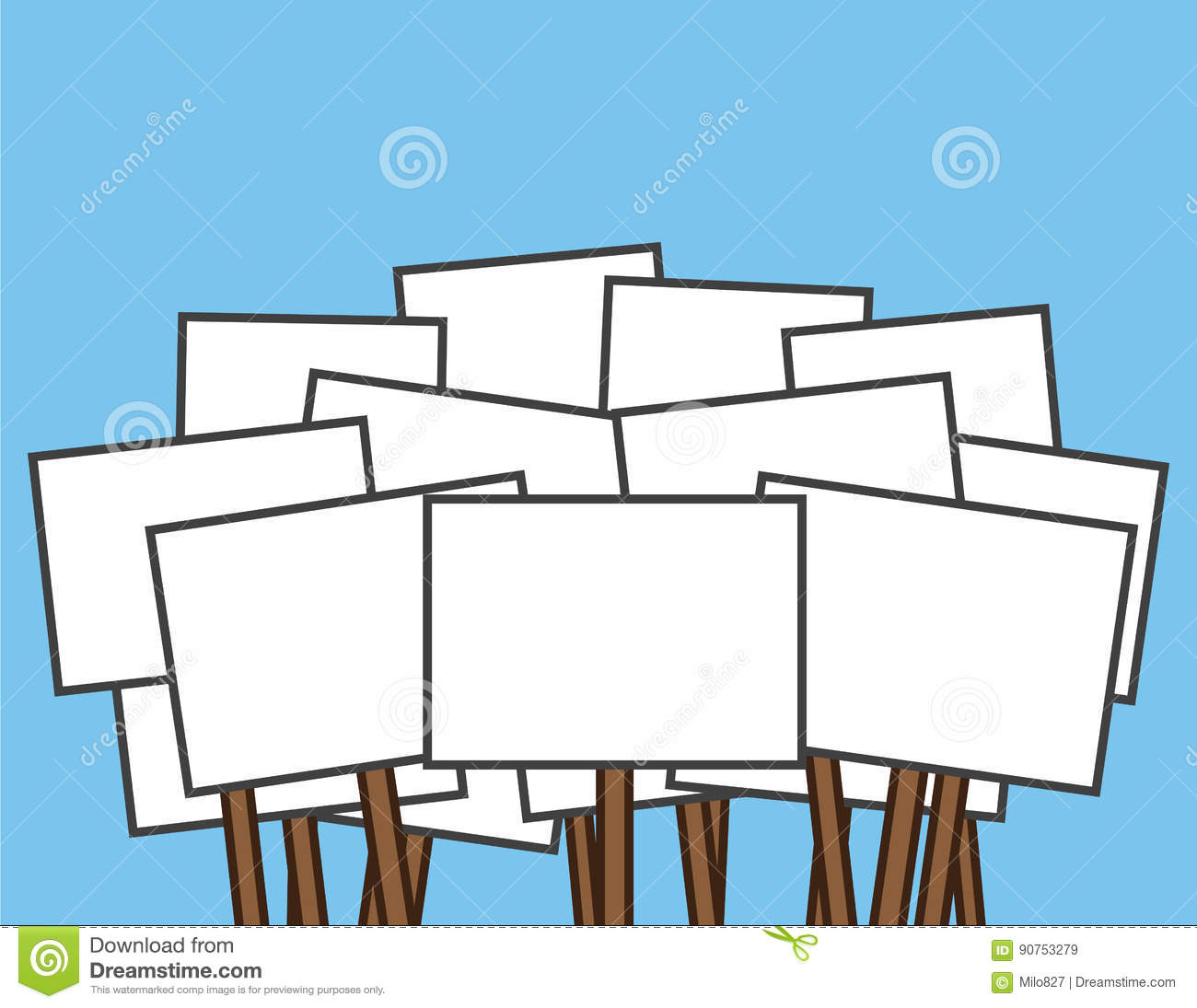 Protest sign clipart banner black and white stock Protest sign clipart 3 » Clipart Station banner black and white stock