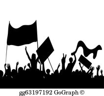 Protester clipart clipart library download Protester Clip Art - Royalty Free - GoGraph clipart library download