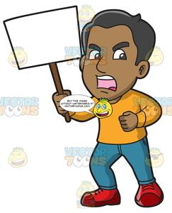 Protester clipart royalty free library A Furious Man In Protest royalty free library