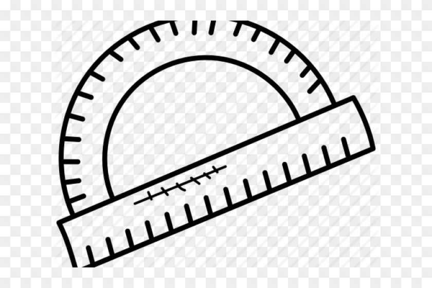 Protractor clipart black and white transparent download Geometry Clipart Math Protractor - Big Clock With No Hands ... transparent download