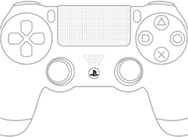 Ps4 controller black and white clipart svg royalty free library Clipart Wallpaper Blink - Ps4 Controller Drawing Easy - psp ... svg royalty free library