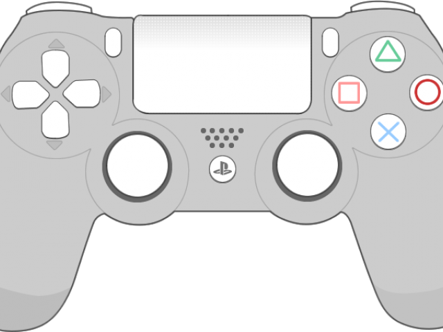 Ps4 controller black and white clipart clipart transparent download HD Joystick Clipart Playstation 4 Controller - Cartoon Ps4 ... clipart transparent download