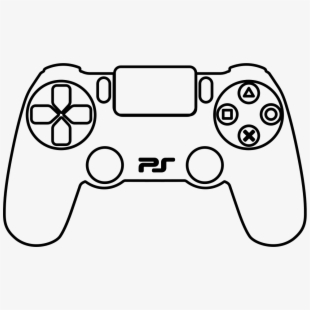 Ps4 controller black and white clipart graphic freeuse library Banner Black And White Ps Drawing At Getdrawings - Ps4 ... graphic freeuse library