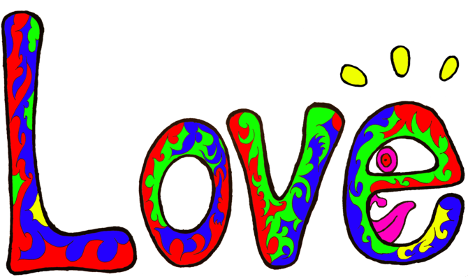 Psychedelic love clipart png svg library library Psychedelic \'Love\' Illustration svg library library