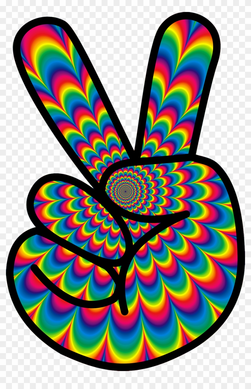 Psychedelic love clipart png image library library Psychedelic Peace Hippie 60s Png Image - Flower Power Peace ... image library library