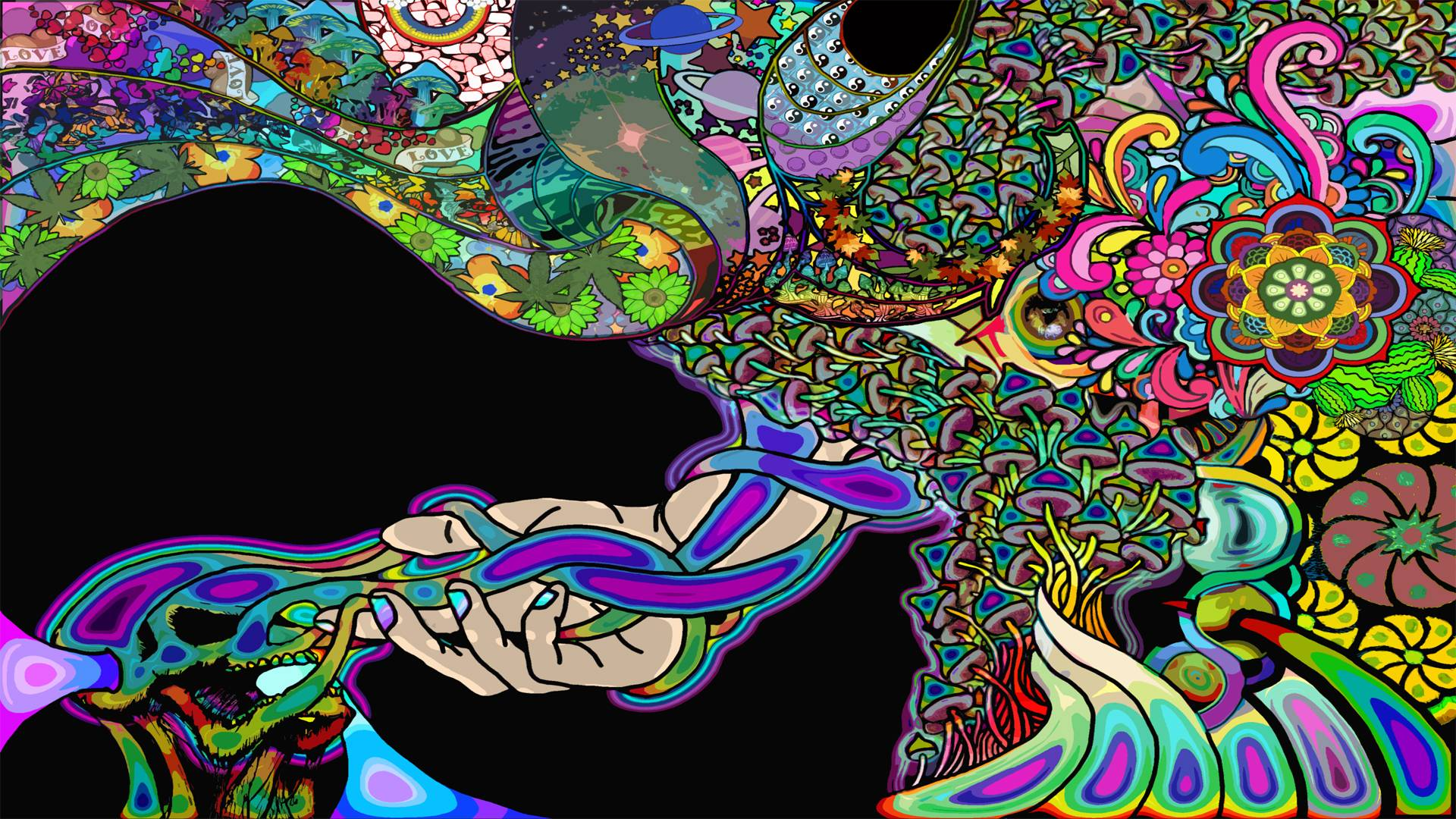 Psychodilic clipart picture free library Psychedelic art - A combination of freehand drawing and ... picture free library