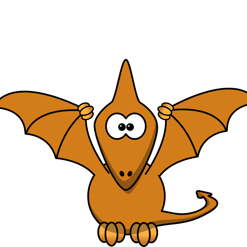 Pterodactyl clipart free png library Free Clipart: Cartoon pterodactyl with upraised wings   anarres png library