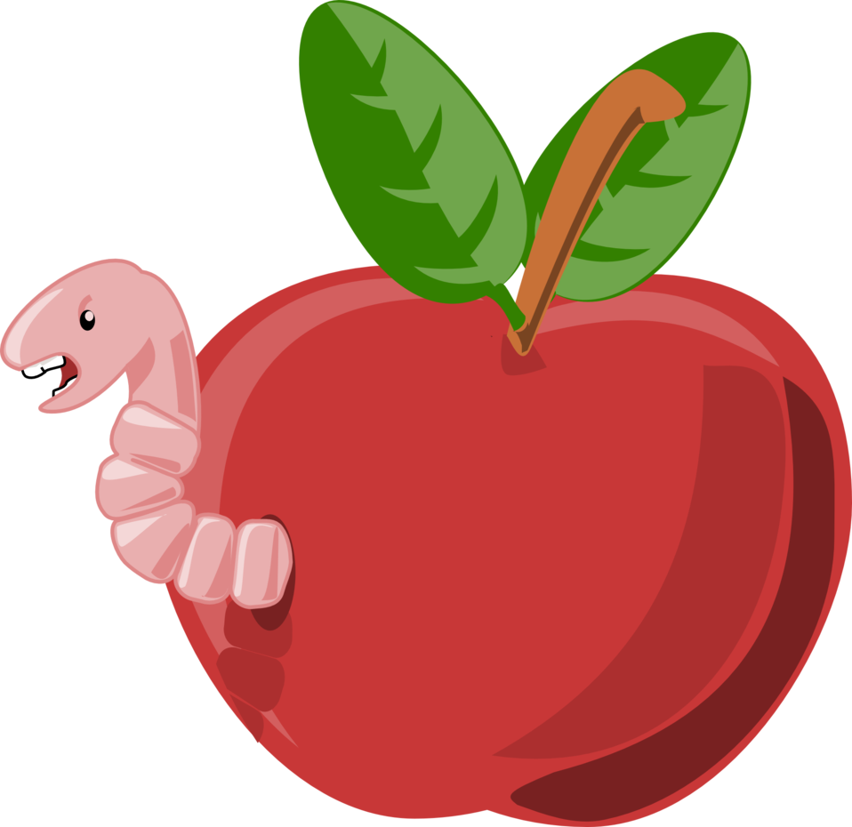 Public domain apple free clipart png free download Public Domain Clip Art Image   cartoon apple with worm   ID ... png free download