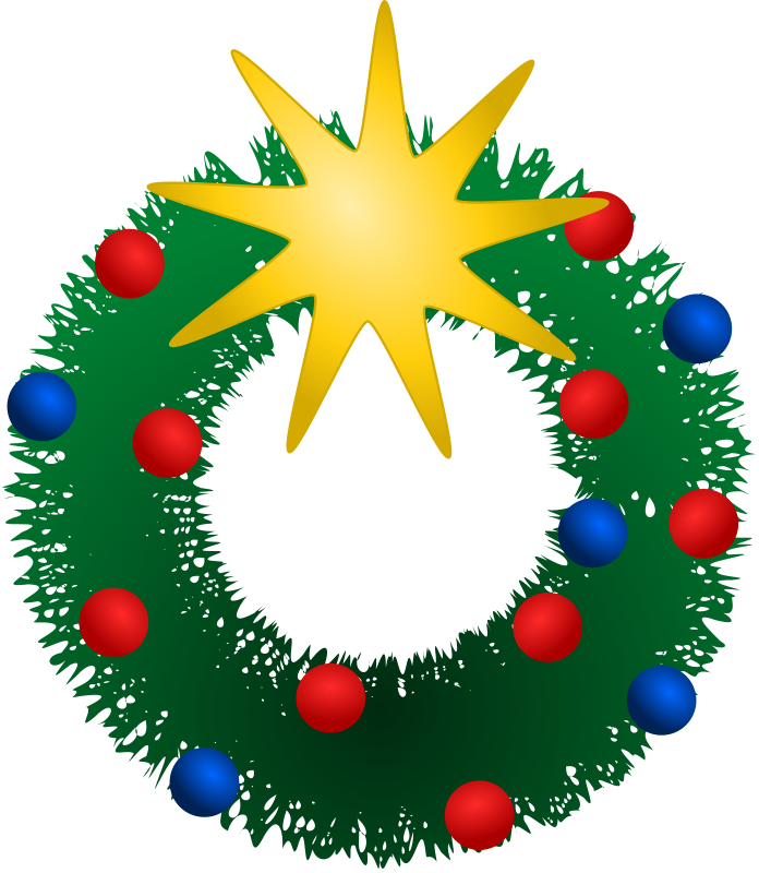 Public domain christmas clipart banner library download Free christmas wreath clipart public domain clip art 3 - Clipartix banner library download