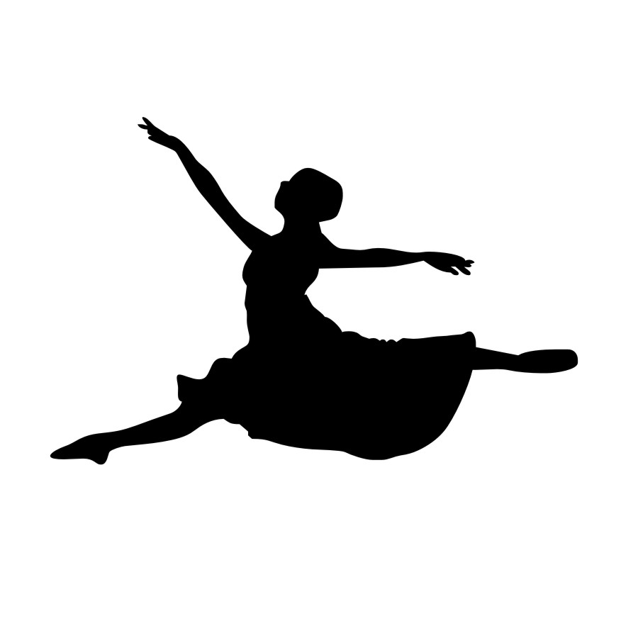 Public domain clipart jumping leaping fat woman lady svg royalty free download Dancer Jumping Silhouette | Free download best Dancer ... svg royalty free download