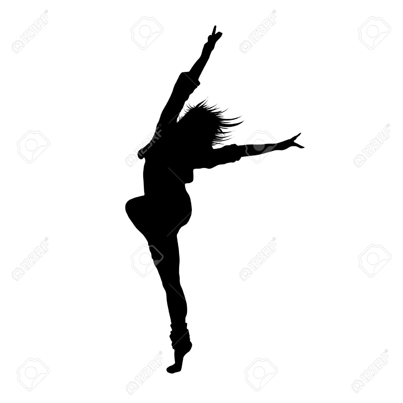 Public domain clipart jumping leaping fat woman lady picture download Dancer Jumping Silhouette | Free download best Dancer ... picture download
