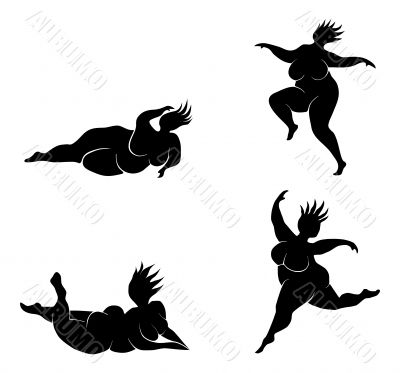 Public domain clipart jumping leaping fat woman lady vector royalty free library Dancer Jumping Silhouette | Free download best Dancer ... vector royalty free library