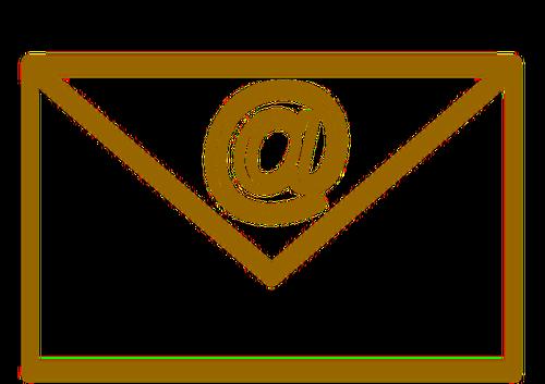 Public domain envelope clipart graphic free Brown envelope   Public domain vectors graphic free