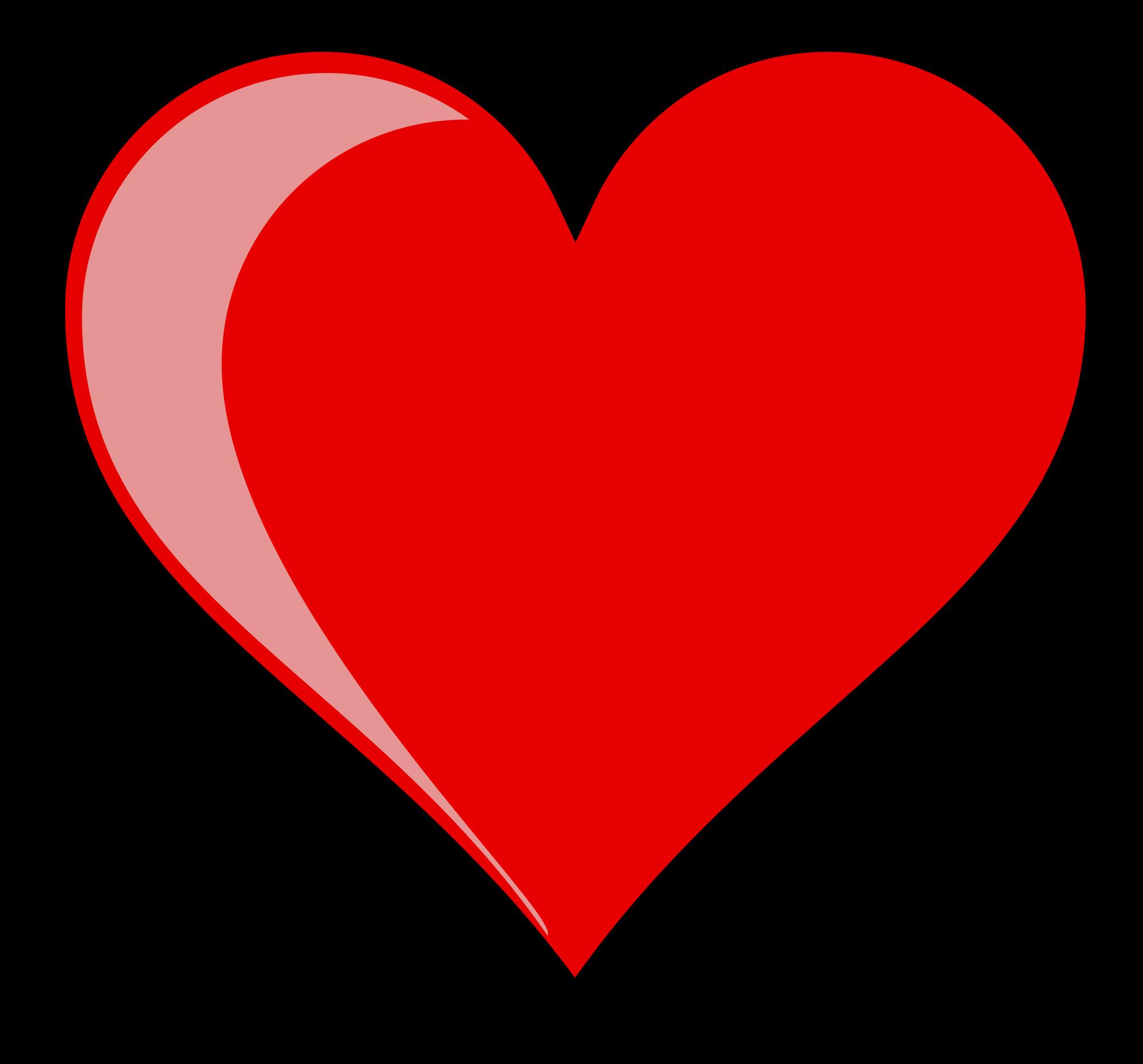 Public domain heart clipart clip art free download File:Heart left-highlight jon 01.svg - Wikimedia Commons clip art free download