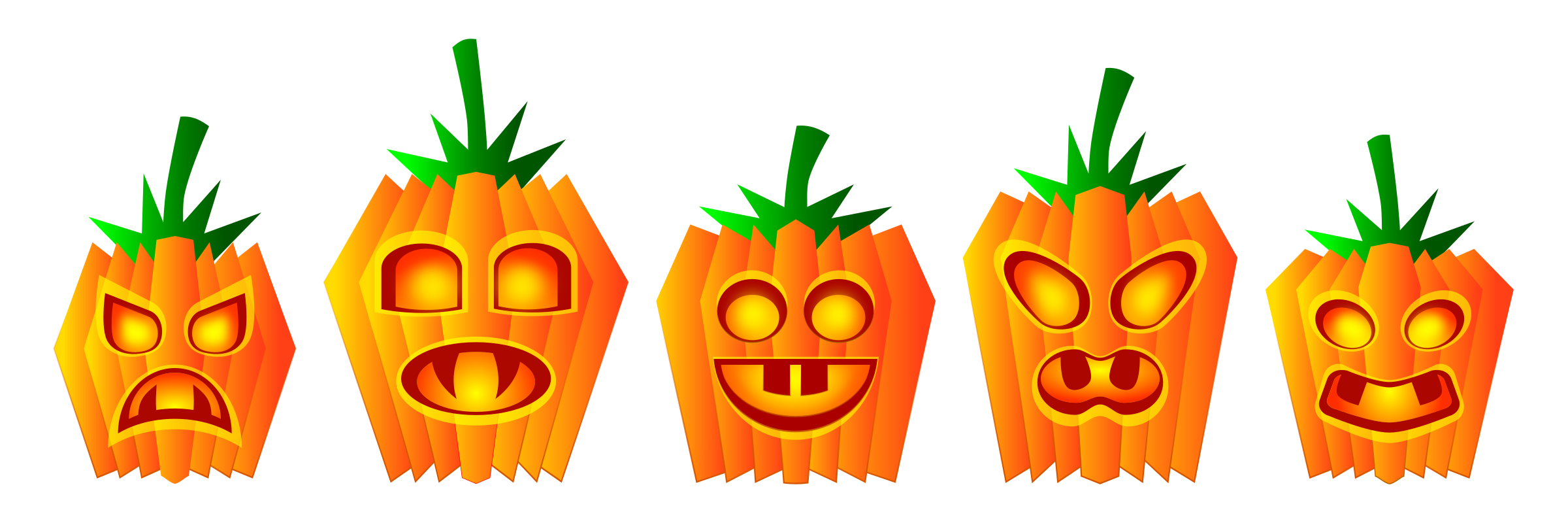 Public domain pumpkin clipart banner royalty free stock Clipart - Halloween Pumpkins banner royalty free stock