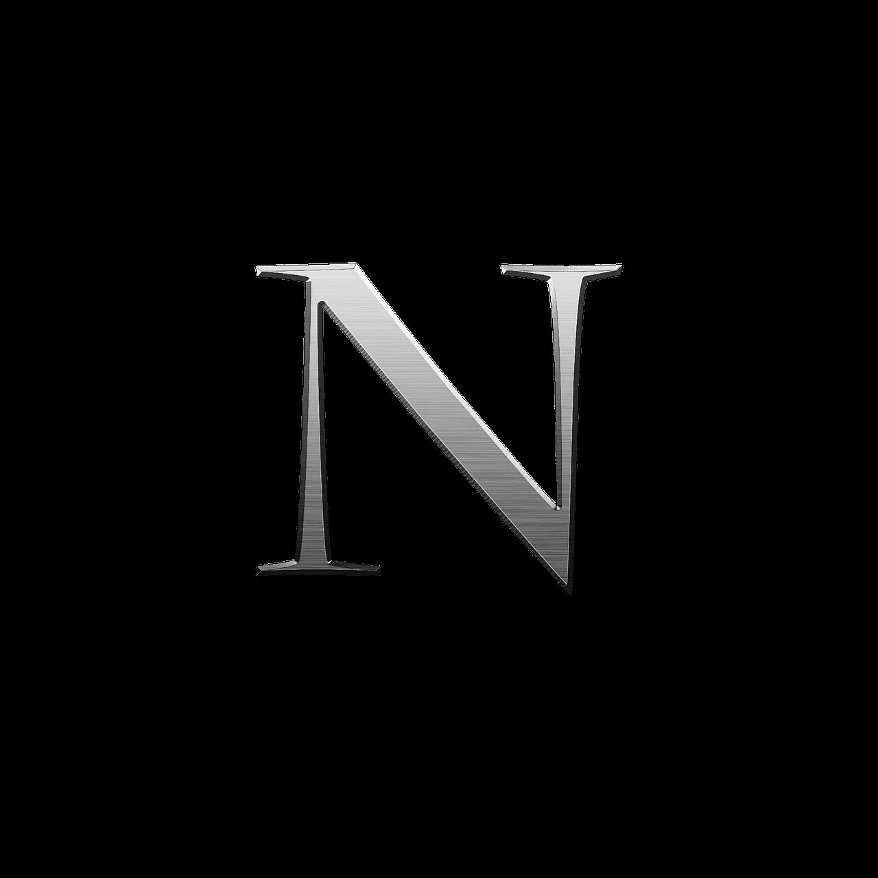 Public domain shiny metallic letter clipart images