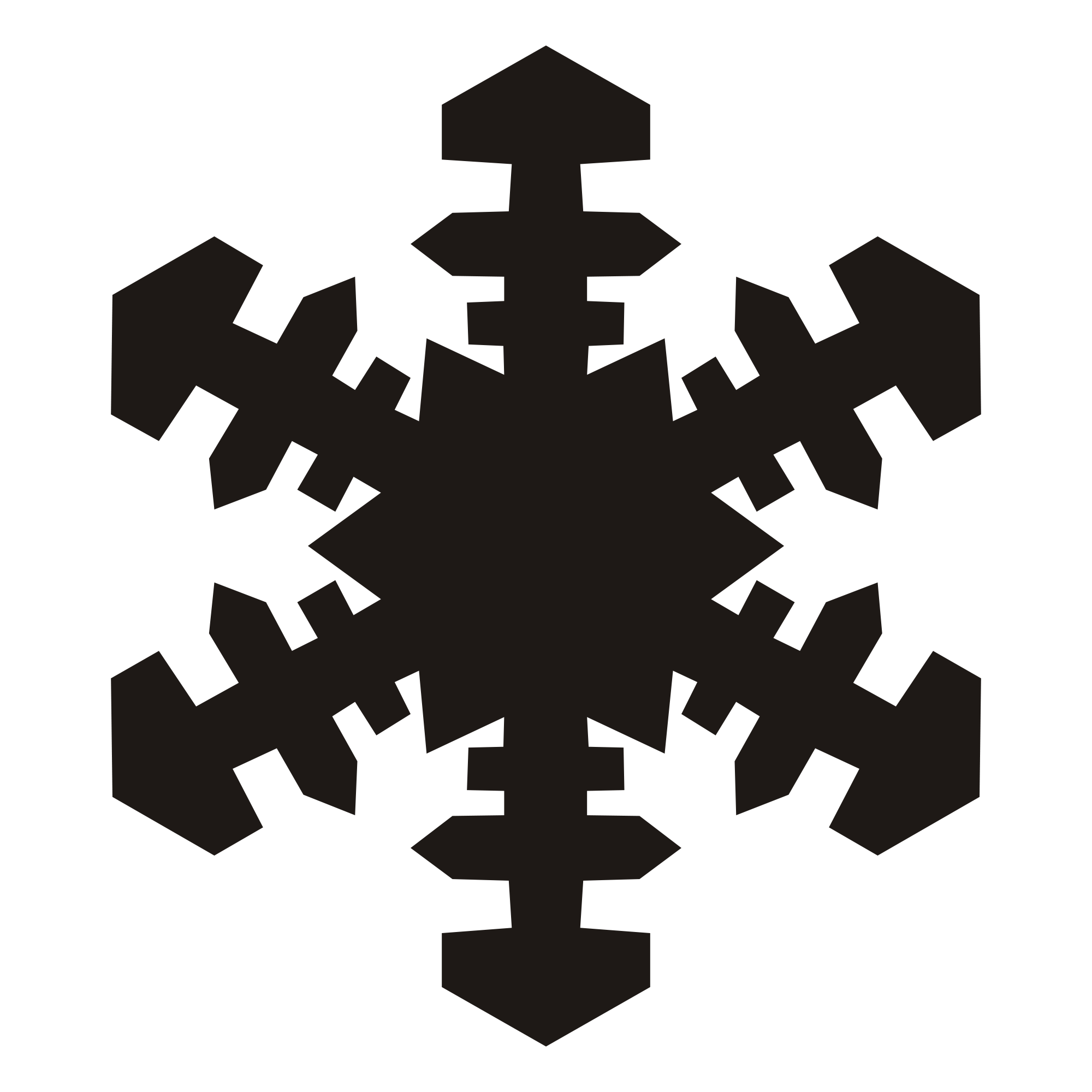 Svg snowflake clipart