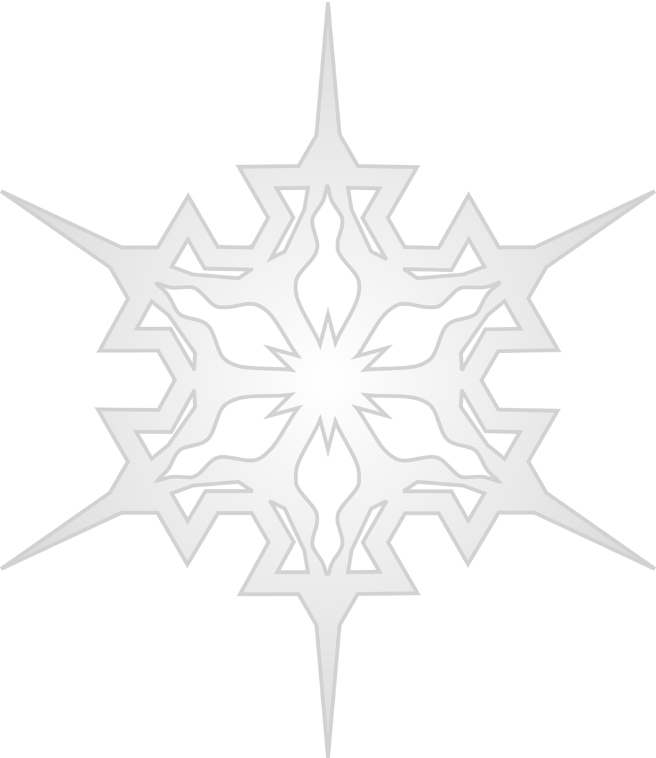 Snowflake leaf black and white clipart clipart black and white stock Public Domain Clip Art Image | Snowflake 7 | ID: 13920606016469 ... clipart black and white stock
