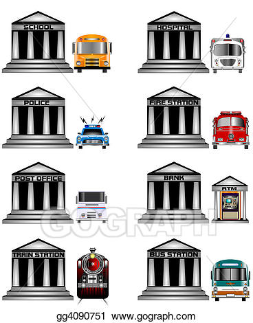 Public service clipart clip art stock Drawing - Public services icon. Clipart Drawing gg4090751 ... clip art stock