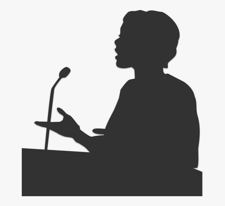 Public speaking clipart silhouette picture library Public Speaking Png Transparent , Transparent Cartoon, Free ... picture library