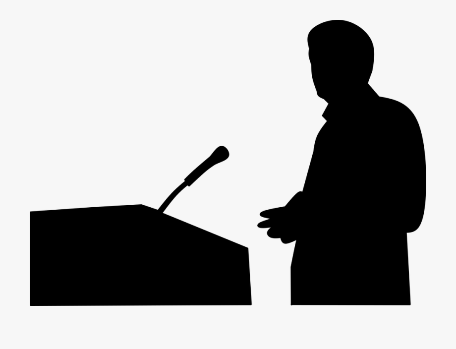 Public speaking clipart silhouette graphic freeuse Silhouette Public Speaking Speaker - Public Speaking Png ... graphic freeuse