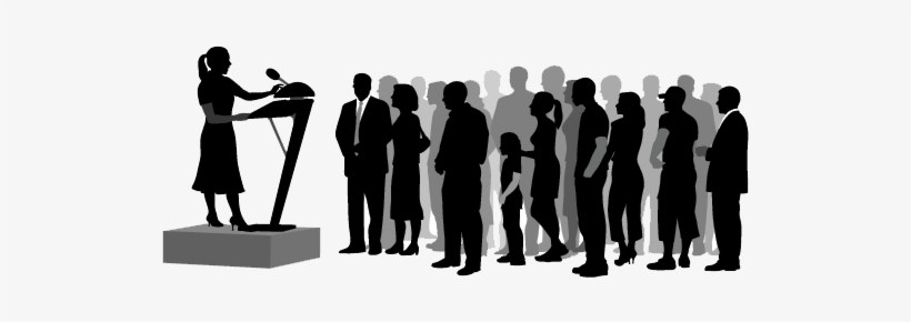 Public speaking clipart silhouette jpg black and white library Crowd Silhouette Png Download - Public Speaking Silhouette ... jpg black and white library