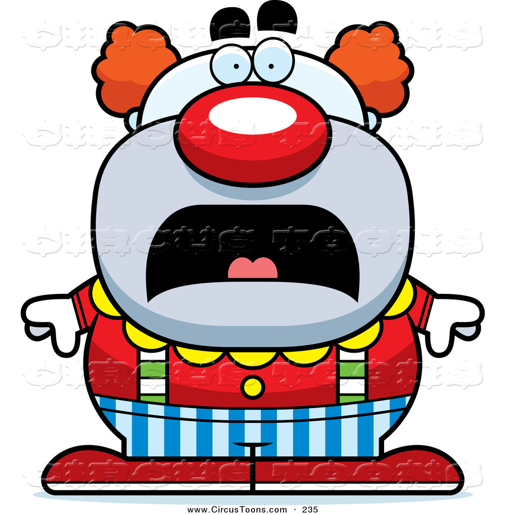 Pudgies clipart clipart transparent library Circus Clipart of a Scared Pudgy Circus Clown Frowning by ... clipart transparent library