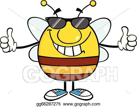 Pudgies clipart vector free library Vector Stock - Pudgy bee giving a double thumbs up. Clipart ... vector free library