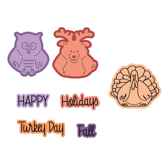 Pudgies clipart transparent download Sizzix Fall Mini Pudgies Stamp and Die Set transparent download