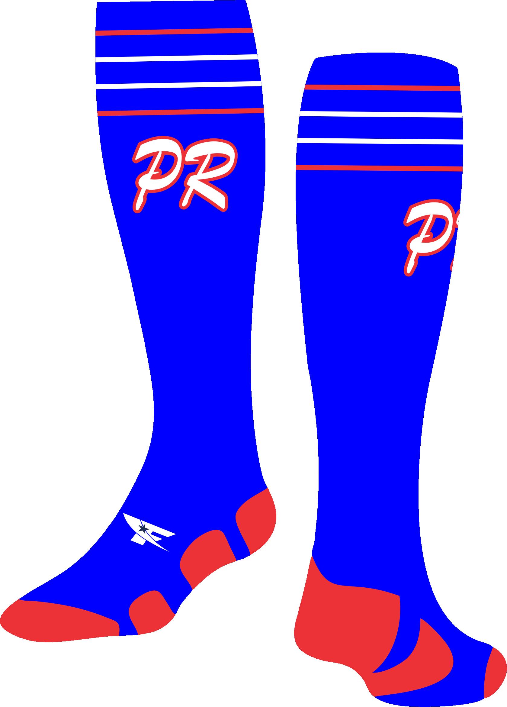 Puerto rico baseball clipart clip black and white library Puerto Rico Socks 1 clip black and white library