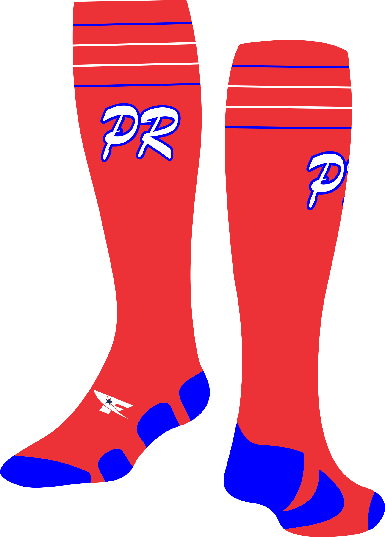 Puerto rico baseball clipart clip free stock Puerto Rico Socks 1 clip free stock